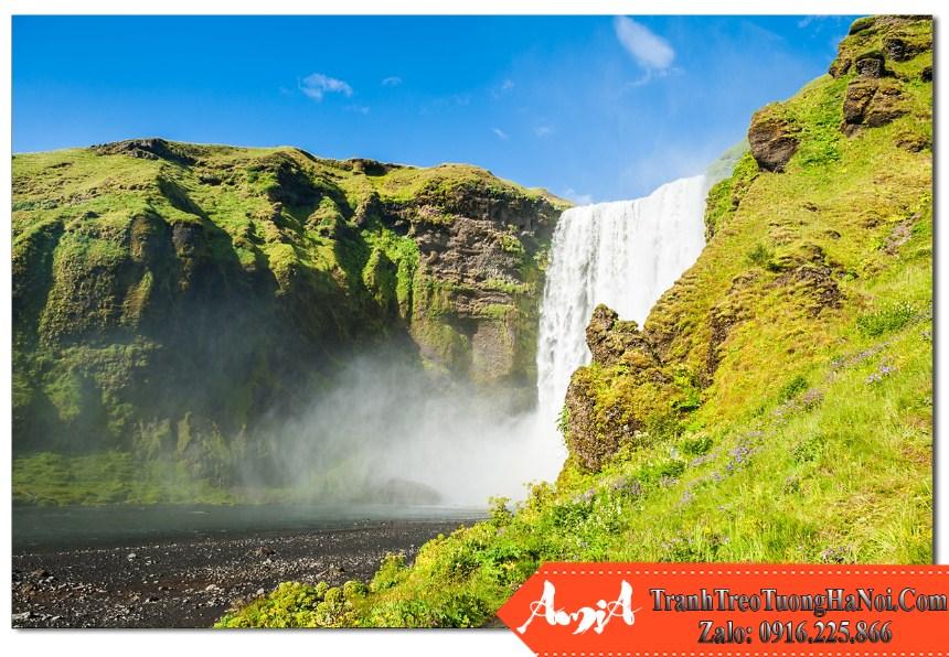 Phong canh thien nhien dep o thac nuoc  Skogafoss ở Nam Iceland Amia TN115
