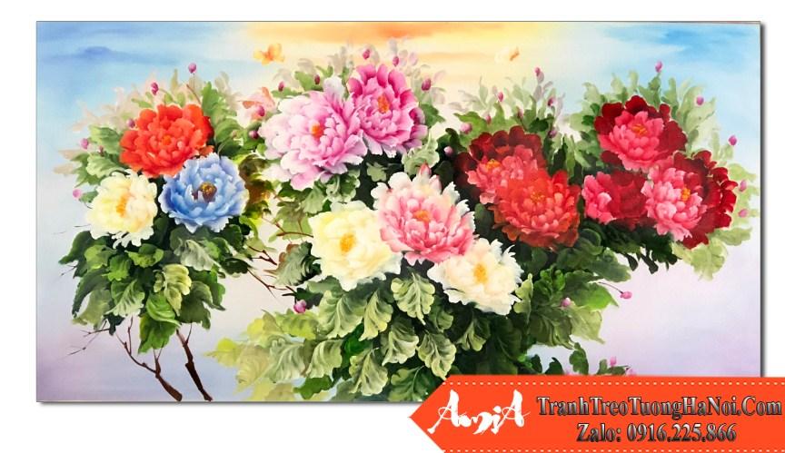 Tranh son dau hoa mau don thuoc hanh hoa amia tsd 549