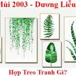 Tuoi Quy Mui 2003 treo tranh gi hop phong thuy y nghia