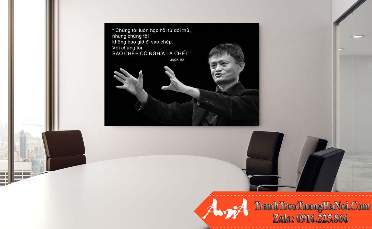 Tranh canvas Jack Ma ve sang tao thanh cong treo van phong