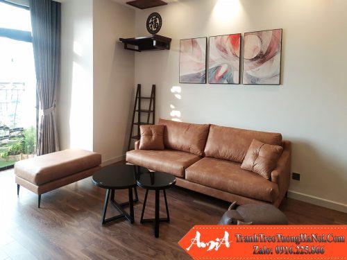 Nha nho mini ke sofa cung tranh trang tri amia cv 475