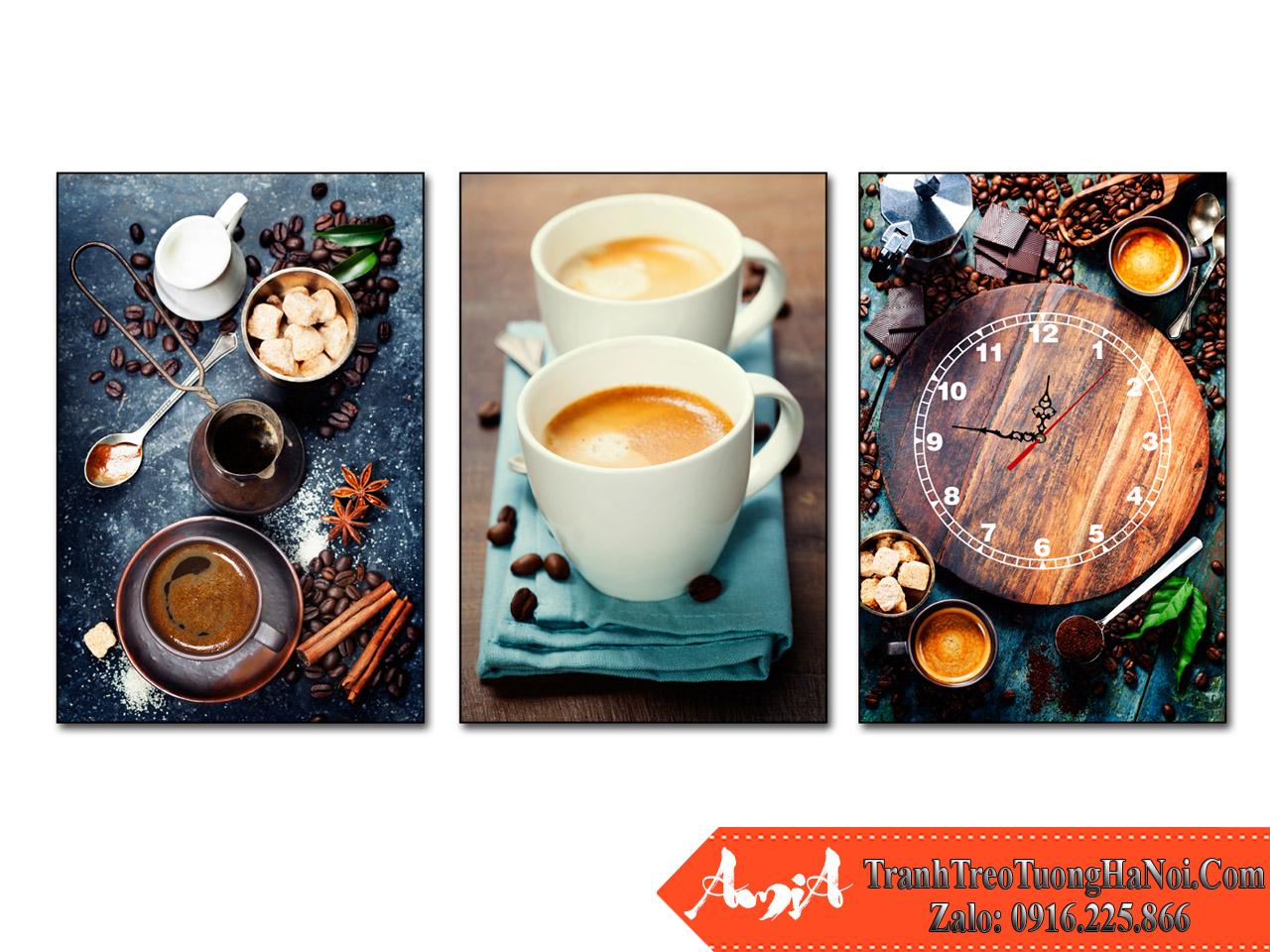 Tranh ghep treo tuong tan huong cafe amia 1866